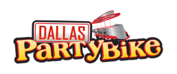 Dallas Party Bike Sticky Logo